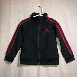 Adidas Toddler Boys Black & Red Zip up Jacket 2T